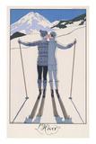 L'Hiver (Winter) Wydruk giclee autor Georges Barbier