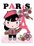 Paris Cutie Giclee Print by Joan Coleman