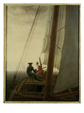Auf dem Segler (On the Sailing Ship), c.1818-19 Giclee Print by Caspar David Friedrich