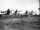 Trossbach Wins the Hurdles 1927 Photographic Print