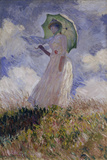Femme à l'Ombrelle Tournée Vers la Gauche (Woman with Umbrella), 1886 Print by Claude Monet