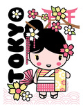 Tokyo Cutie Poster by Joan Coleman