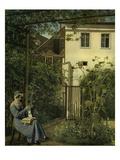 """""""Wiener Hausgarten"""" (Vienna Garden) Giclée-Druck von Eduard Ritter Von Engerth"""