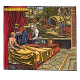 Doctor at Sickbed Giclee Print by  Petrarch Master