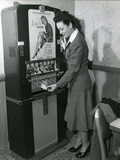 USA, Tighs Vending Machine, 1950 Photographic Print