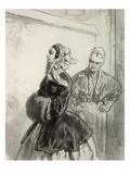 C'est Pour Ces Madames-La Qu'On Enlargit Les Rues De Paris Giclee Print by Paul Gavarni
