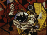 Nature Morte Aux Raisins et Aux Poires (Still Life with Grapes and Pears), 1913 Print by Juan Gris