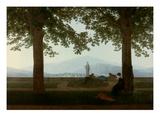 Gartenterrasse (Garden Terrace) Giclée-Druck von Caspar David Friedrich
