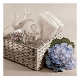 Hydrangea and Basket 2 Print by Julie Greenwood