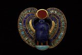 Tutankhamen, Scarab Pendant, Egyptian Photographic Print