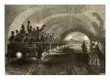 The Test Drive on the Subterranean Railway in London, October 11, 1862 Giclee Print