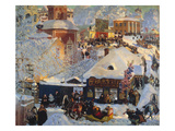 Winter, Carnival Fair, 1919 Poster by Boris Kustodiyev