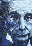 Albert Einstein Artistic Formulas Poster Masterprint