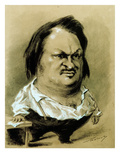 Balzac, Caricature by Nadar, C19th Giclee Print by Gaspard Felix Tournachon Nadar