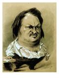 Balzac, Caricature by Nadar, C19th Giclee Print by Gaspard Felix Tournachon Nadar