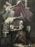 Mozart Composes Act 1 of the Opera Don Giovanni, C19th Giclee Print by Theodor Mintrop