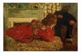 Le Peignoir Rouge (The Red Dressing Gown), 1898 Giclee Print by Edouard Vuillard
