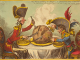 The Plumb-Pudding in Danger, or State Epicures Taking Un Petit Souper Giclee Print by James Gillray