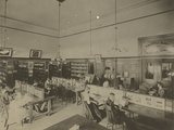Public Reading Rooms at the Public Library, Los Angeles, CA, C.1905 Photographic Print