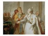 Catherine the Great Puts the Turkish Trophies at the Grave, 1791 Giclee Print by Andreas Huene
