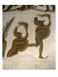 Armoured Athletes with Torches, Roman Mosaic, C4th Poster