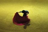A Matador Warming Up in a Private Arena Lámina fotográfica