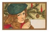 Child under Christmas Tree, Postcard Prints