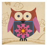 Brown Boho Owl Giclee Print by Hope Smith