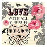 Love with All Your Heart Giclee Print by Violet Leclaire