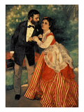 The Sisley Family, 1868 Prints by Pierre-Auguste Renoir