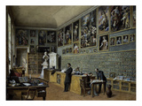 Library and Reading Room for the Art Collections, Belvedere Palace, Vienna, Austria Giclee Print by Carl Goebel