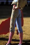 Bullfighter Goads a Bull Papier Photo