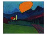 Murnau - Landscape Orange Cloud, c.1909 Giclee-trykk av Alexej Von Jawlensky