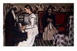 L'Ouverture de Tannhäuser (Girl at the piano; Tannhäuser-Ouverture), c.1867-68 Giclee Print by Paul Cézanne