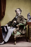 Charles Dickens, C. 1865 Stretched Canvas Print
