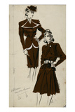 Women's Fashion, 1940s Giclee Print by Gerd Hartung
