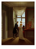 Paar am Fenster (Couple at the Window), 1817 Giclee Print by Georg Friedrich Kersting