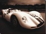1958 Lister Jaguar 62 Reproduction sur toile tendue