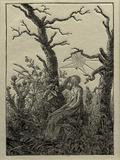The Woman with the Cobweb Between Bare Trees Kunstdrucke von Caspar David Friedrich