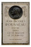 J.J.Rousseau Place of Birth Memorial Plaque Giclee Print