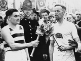 Olympic Flame Relay at the 1948 London Olympcs Photographic Print
