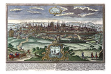 View of Paris, C.1740, Johann Georg Ringlin after Werner Giclee Print by Friedrich Bernhard Werner