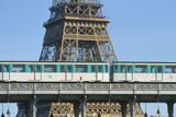 Eiffel Tower and Métro, Paris, France Photographic Print