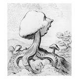 An Exrescence; a Fungus; Alias a Toadstool Upon a Dunghill Giclee Print by James Gillray