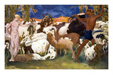 Daphnis and Chloe Premium Giclee Print by Leon Bakst