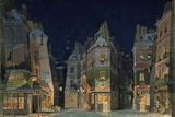 Set design for Act 2 of La Bohème, Opera by Giacomo Puccini Posters by Adolf Hohenstein