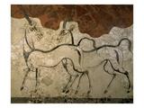 Two Antilopes, Minoan Fresco Giclée-trykk