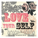Love Yourself Giclee Print by Violet Leclaire