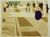 L&#39;Avenue (The Street), 1897-98 Gicl&#233;e-Druck von Edouard Vuillard