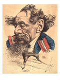 """L'Eclipse"" Charles Dickens Prints by André Gill"